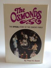Vtg First Printing The Osmonds, Official Story Signed By Author Paul H Dunn