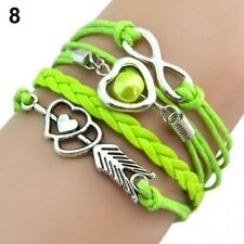 Multi Corded Green Bracelet With Silver Colour Features Brand New