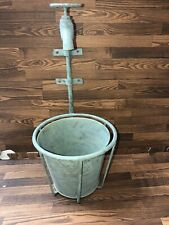 Whimsical Metal Indoor/Outdoor Faucet Planter 2 Piece Set w/Distressed Finish