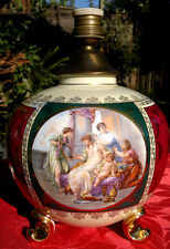 """Vintage Royal Viena clásica escena Pintado a Mano Lámpara De Mesa 11"""" de alto c1930 ~ 45"""