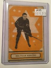 1933 Opc Rare hockey Card of Melville Keeling