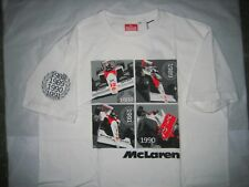 Men's McLaren Heritage Quartet Championship years 1988-91 T-Shirt Very Rare NEW