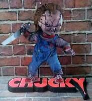 """CHUCKY DISPLAY 8"""" STANDEE Figure Statue MDF Cutout Good Guy Doll Movie Toy Decor"""