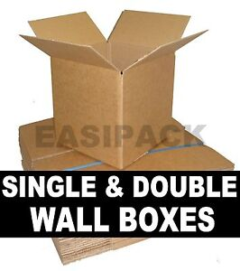 Superior Quality Single Double Wall Plain Brown Cardboard Postal Mailing Boxes