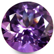 5.35Cts Hot Pretty Natural Purple Color Topaz 11mm Nice Round Brazil Gemstone