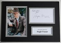 Hugh Fraser Signed Autograph A4 photo mount display Poirot TV AFTAL Captain COA
