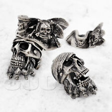 Paracord Bead Beads ZOMBIE PIRATE SKULL Jack Sparrow Bracelet KeyChain by CooB