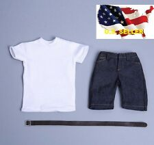 1/6 men summer casual shirt short Jeans hot toys phicen muscular Ganghood ❶USA❶