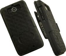 Negro Carcasa con Soporte + Funda Clip para Cinturón Motorola Droid Mini XT1030