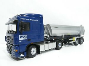 "WSI Models 1:50 DAF XF ""Floor Trailers"" mit Tekno Meiller-Kipper #A256"