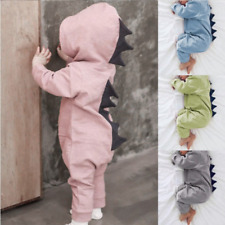 Dinosaur Kids Cute One-Piece Hooded Jumpsuit for Boys Girls Under 3 Years Old