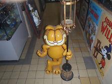Extremely Rare! Garfield At Street Lantarn Big Figurine Lamp Statue