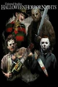 046C2 Halloween Horror Nights Movie Film Deco Print Art Silk Poster