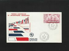 TAAF T.A.A.F. Antarctic FDC First Day Cover Dumont 1974 Cover 5q