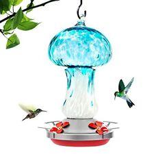 New listing LaElvish Garden Hummingbird Feeders for Outdoors Hand Blown Glass Hummingbird.