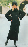 Knitting Pattern Lady's Coat and Hat. Size 32 to 42 Inch Bust.