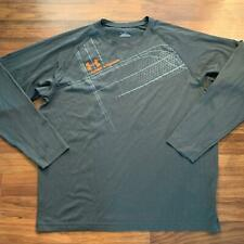 Under Armour Heat Gear Xl Gray and Orange Long Sleeve Shirt