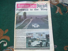 Motoring News 2 June 1983 Eddie Cheever Pau F2 Nurburgring 1000kms BMW Alpina B9