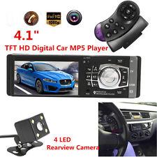 4.1'' 1DIN MP5 MP3 AUTORADIO BLUETOOTH TOUCH SCREEN TF AM SD USB RETROCAMERA
