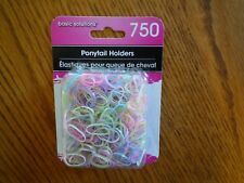 750 Small Elastic Ponytail Hair Holders Bands Mix of Pastel Colors Plus White