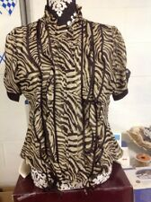 Dereon By Beyonce Animal Print Top With Ruffles