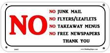 No Junk Mail sign (Aluminum Sign)-Ref-AM