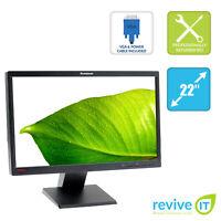 """Lenovo L2250 22"""" Widescreen 1680x1050 16:10 LCD Monitor VGA DVI Grade B"""