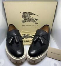 Burberry Mens Cowall Loafer With Tassels Thick Rubber Sole Black UK 8.5 EUR 42.5