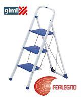 STOOL LADDER LADDER STEEL HEIGHT 115CM 3GRADINI WIDE ART.36890 GIMI
