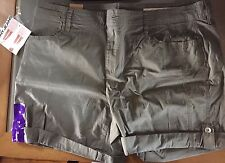 DKNY JEANS Womens DONNA KARAN NEW YORK Roll Tab Shorts Army Green size 14