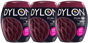 DYLON 350g Machine Dye Pod Plum Red x 3