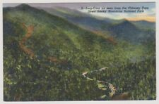 USA postcard - Loop Over as seen from Chimney Tops, Smoky Mountains Nat. Park