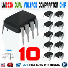 10pcs LM393N LM393 DIP-8 Low Power Dual Voltage Comparator Chip IC LM393P 393