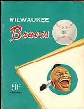 1960 MLB Baseball Milwaukee Braves Yearbook VGEX+