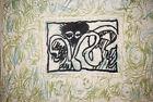 Pierre Alechinsky Lino Litho Planche II 1970 Art Print Linocut Lithograph