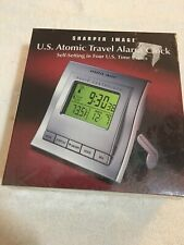 Sharper Image Travel Alarm ATOMIC Clock w/ Temp OE001