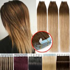 100% Invisible 150G Tape In 9A Russian Thick Remy Human Hair Extensions Ombre US