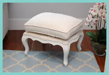 *In stock now!* NEW French Provincial linen ottoman footstool