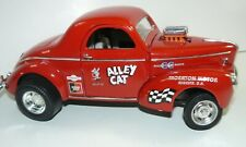 "1/18, custom 1941 Willys  ""Alley Cat"" drag car, pro street, barn find, modified"