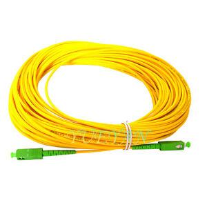 SM SX PVC 3mm 15 M Fiber Optic Jumper Cable SC/APC-SC/APC Fiber Optic Patch Cord