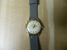 GREAT ERNEST BOREL GENTS WRIST WATCH FANCY LUGS GOLD CAPED AND STAINLESS