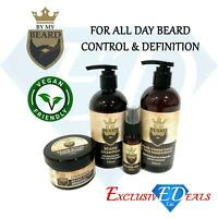 By My Beard Shampoo, Oil, Conditioner & Moisturiser Styler Facial Hair Mens Gift