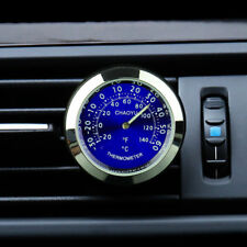 Auto Car A/C Vent Clip Perfume Refill Storage Reservoir Clock Watch +Thermometer