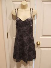 new in pkg pewter/black lace pattern party  dress made in USA SIZE JR. 9/10