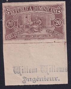 Dominicana Rep 1899 - Imperforate Colombus stamp Sc 105 - Unused MNH Luxe..X2764