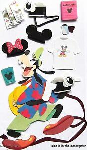 TOURIST GOOFY Disney Jolee's Boutique 3-D Stickers -  Camera Map