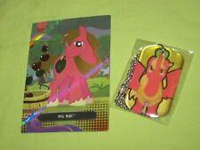 My Little Pony BIG MAC Necklace DOG TAG #24 & Foil Trading Card #TC26 Set