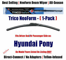 Super Premium NeoForm Wiper Blade (Qty 1) fits 1984-1987 Hyundai Pony - 16160