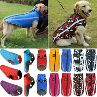 Waterproof Warm Winter Dog Coats Clothes Puppy Padded Pet Vest Jackets Shirts