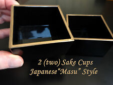 "2!! Drink SAKE the ""real"" authentic way as done in Japan / Lacquer Masu Cup"